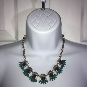 J. Crew Statement Necklace with Blue Stones